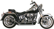 Paughco 1 3/4 Side-by-side Upsweep Fishtail Exhaust System Chrome 726sbs