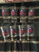 8 Planet Hollywood Shot Glass Lot Collectible Vintage Shot Glasses