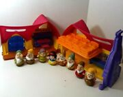 Fisher Price Little People Snow White And 7 Dwarfs Musical Cottage House