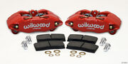 Wilwood Dpha Front Caliper And Pad Kit Red Honda / Acura W/ 262mm Oe Rotor
