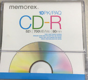New And Sealed Memorex 10 Pack Cd-r - 52x 700mb 80 Min