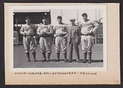1930's Pittsburgh Pirates Owners And Coaches Honus Wagner Vintage Baseball Photo