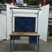 Global 60wx30d Wood Top 2 Sided Work/production/inspection Bench W/drawers