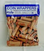 36 Count Crimped End Penny Coin Wrappers - N.f. String - Made In Usa