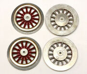 Mew Smws, Standard Gauge Lionel Electric Loco Red Wheel Set, 4pcs., Made In Usa