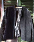 Vintage womenand039s black open Front boho Chic hippie quilted Duster equestrian Blaz
