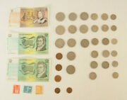 Lot Collection Of Australian Currency Coins Queen Elizabeth 1970and039s 1980and039s Era