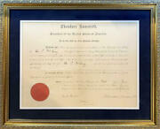 Theodore Roosevelt Signed Document 1903 Presidential Appointment. Jsa