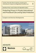 Protecting Privacy In Private International And Procedural L ... 9783848723713
