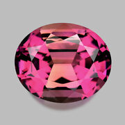 4.80cts Calibrated 12x10mm Oval Encased Peach Plum Pink Tourmaline Watch Video