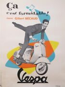 Ambroise D. Gilbert Becaud Andccedila Cand039est Formidable 1956 Vintage Poster
