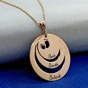 Mothers Necklace - Engraved Personalized Mother's Jewelry With Children's Names