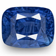Grs Certified Sri Lanka Blue Sapphire 2.58 Cts Natural Untreated Cushion