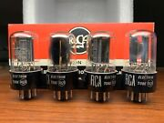 Set Of 4 Strong Rca 6sn7 Gta Short W Black Plates Side Getter Vacuum Tubes