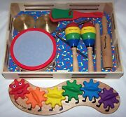 Melissa And Doug Clap Clang Tap Band In A Box And Rainbow Caterpillar - Mint