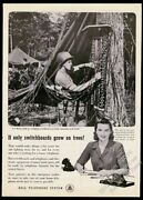 1945 Usmc Marine Soldier Sets Up Jungle Switchboard Bell Telephone Print Ad