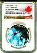 2019 Canada S20 Mystical Snow Day Ngc Pf70 Ultra Cameo Mint Box And Coa Ogp