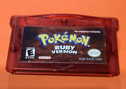 Original Authentic Pokemon Ruby Version Gameboy Advance Gba Game   Dry Battery