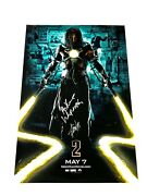 Stan Lee And Mickey Rourke Signed Iron Man 1-sheet Poster Whiplash Coa Photo Card