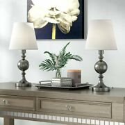 Set Of 2 Ellery Touch Accent Lamps 17-inch Tall For Living Room Bedroom