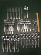 58 Pcs Supreme Cutlery By Towle Beacon Hill Stainless Flatware Japan