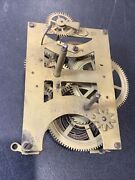 Antique Seth Thomas 8 1/4 Brass Clock Movement - As Is Parts Only