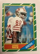 Jerry Rice 1986 Topps Rookie Card 161 2078 Hof Rookie Vg Slight Crease Right