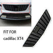 Fit For Cadillac Xt4 2018-2021 Chrome Front Upper Bumper Mesh Grill Grille 1pcs
