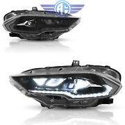 For Ford Mustang 18-20 Full Led Dynamic Drl/turn Amber Side Reflector Headlights