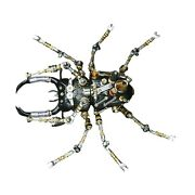 1set Metal Insect Puzzle Model Kit 3d Diy Mechanical Assembly Jigsaw Crafts Asse