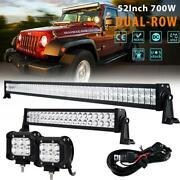 52 700w +22 280w+4 Led Light Bar Combo Beam For Jeep Ford 4wd Offroad Suv Atv