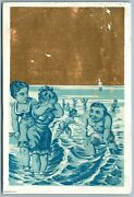 Bathing People Antique Advertising Victorian Trade Card Stoves And Ranges
