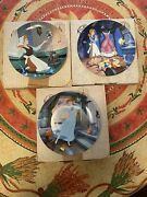 Disney Cinderella Edwin M. Knowles Collector Plates Collection Of 3.