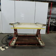 Pneumatic Air Over Hydraulic 2000lb Low Profile Ground 0-36 Scissor Lift Table