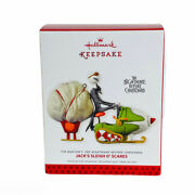 Hallmark 2013 The Nightmare Before Christmas Jackand039s Sleigh Oand039scares Ornament