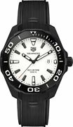 New Tag Heuer Aquaracer Way108a.ft6141 White Dial On Black Strap Menand039s Watch