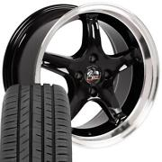 Black 17 Staggered Wheel Toyo Tire Set Fit Ford Mustang Cobra R 17x9/17x8