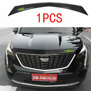 Fit For Cadillac Xt4 2018-2021 Black Steel Front Engine Hood Grille Strip Trim