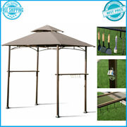 8'x5' Outdoor Barbecue Grill Gazebo Canopy Tent Patio Bbq Shelter W/ Ventilation