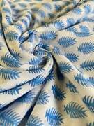 Indian Cotton Fabric 100 Hand Block Print Cotton Fabric By The Yard
