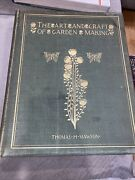 1900 Rare 1st Edition The Art And Craft Of Garden Making, Thomas Mawson
