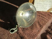 1914-1920and039s 6 1/2 Inch Brass Clamp-on Windshield Post Spot Light
