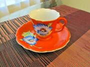 G Gold China Tea Cup And Saucer Hand Painted Occupied Japan China