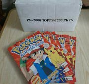 Merlin Topps Pockemon Factory Case 12 Box 100 Packets +12 Albums Mint Red 1st