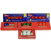 Lot/26 Vntg Christmas Lights C7-1/2 Replacement Bulbs Blue Green Red White Nos