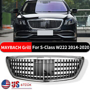 For Mercedes-benz S-class Maybach 2014 -2020 W222 S63 S450 Chrome Silver Grille