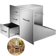 21.6w X 29.5h Outdoor Kitchen Bbq Island Door Drawer Combo Access Drawers
