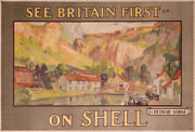 Fourqueray Shell See Britain First On Shell Cheddar Gorge 1920 Old Poster