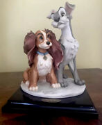 Giuseppe Armani Disney Collection The Lady And Tramp Figurine Very Rare Mint