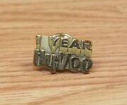 Vintage 1 Year Hyvee Store Collectible Gold Tone Employee Pin Read